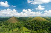 foto of chocolate hills  - view over the famous chocolate hills on Bohol Philippines - JPG