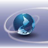 Vector Earth on table
