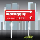 Vector Shopping Sign