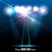 stock photo of spotlight  - Vector Stage Spotlight with Laser rays - JPG