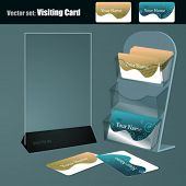 Vector set. Visiting Cards