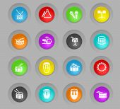 Rhythm Instruments Colored Plastic Round Buttons Web Icons For User Interface Design poster
