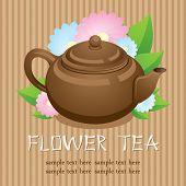 Teapot. Flower tea