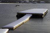 Fresh Snowfall Blankets Dock