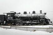 Locomotive In Winter Weather poster