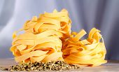 Tagliatelle And Herbs In A Kitchen