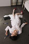 Nurse Lying On The Floor