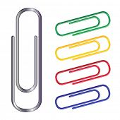 vector illustration of colour clips