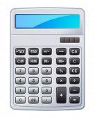 vector illustration of calculator
