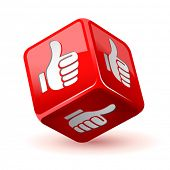 dice thumb up icon