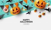 Happy Halloween Background Design poster