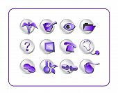 Medical Icon Set 1 - Purple-Silver