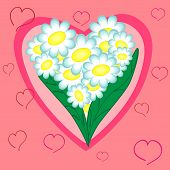 floral heart.valentine holiday card.