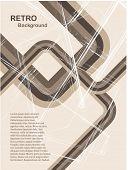 Una ilustración de fondo retro grunge vector abstracto en tonos de piedra con una capacidad de copia