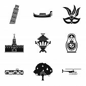 Cultural Difference Icons Set. Simple Set Of 9 Cultural Difference Icons For Web Isolated On White B poster