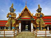 stock photo of budha  - Thai Authentic Architecture in Bangkok - JPG
