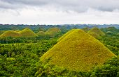 stock photo of chocolate hills  - Chocolate Hills in Bohol Philippines - JPG