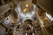 The ceiling of St. Nicholas Church, Prague, Bohemia, Czech Republic