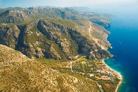 stock photo of beach holiday  - Turquoise Seascape in Oludeniz of Turkey - JPG
