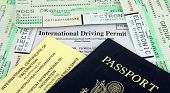 picture of boarding pass  - Collection of Travel Documents  - JPG