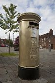 HAMBLE, NR SOUTHAMPTON, UK - AUG 8:UK's Royal Mail honors Olympic Gold Medal winners, by transformin