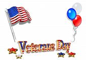 Veterans Day Background 3D