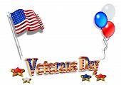 Veterans Day Background 3D