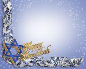 Hanukkah esquina diseño azul