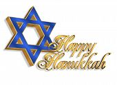 Happy Hanukkah Jewish Star