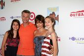 LOS ANGELES - AUG 12:  Harry Hamlin, Lisa Rinna, daughters arrives at the 3rd Annual My Brother Char