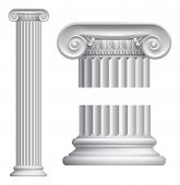 picture of stone sculpture  - Illustration of classical Greek or Roman Ionic column - JPG