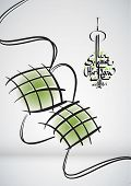 Muslim Ketupat Drawing Translation: Peaceful Celebration of Eid ul-Fitr, The Muslim Festival that Marks The End of Ramadan
