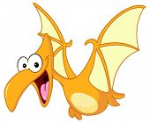 stock photo of pteranodon  - Pterodactyl dinosaur flying - JPG