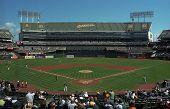 Oakland estadio de béisbol de Coliseum de un