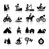 stock photo of house woods  - Recreation icons - JPG