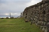 Dry Stone Wall And Fence In Scotland