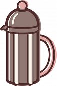 Illustration Of A French Coffee Press