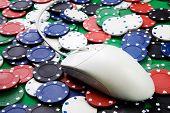 Online-Gaming und Glücksspiel Konzept