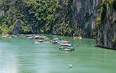 Halong Bay, Vietnam  Floating Village