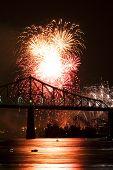Fireworks Exhibition With Bridge