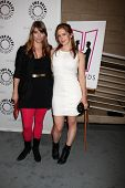 BEVERLY HILLS - AUG 13:  Amber Benson, Magda Apanowicz arrives at the