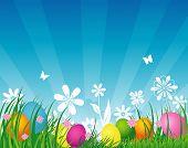 Vector illustration of Easter backgraund