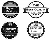 Collection of Quality and guarranty labels