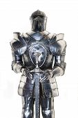 pic of arthurian  - Medieval knight metal protect armor isolated on white - JPG