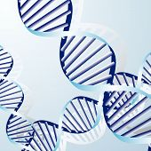 image of double helix  - double DNA helix biochemical abstract background with strands - JPG