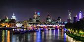 London Skyline bei Nacht