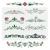 Floral Design Decorative Elements