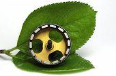 Motor elétrico nas folhas