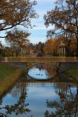 stock photo of tsarskoe  - Bridge across canal in Alexander - JPG