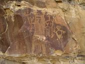 Indian Petroglyphs In Wyoming